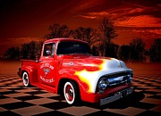 1956 Ford Truck Framed Prints - Jacks Speed Shop 1956 Ford Pickup Framed Print by Tim McCullough