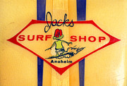 Anaheim California Framed Prints - Jacks Surf Shop Framed Print by Ron Regalado