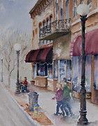 Globe Painting Originals - Jackson Ave. by Amy Caltry