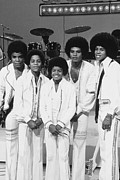 Jacksons Framed Prints - Jackson Five, The Group Portrait Shot Framed Print by Everett