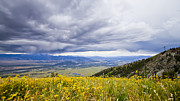 Jackson Hole Photo Framed Prints - Jackson Hole Rain Clouds Framed Print by Dustin K Ryan