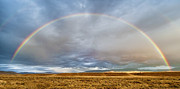 Panoramic Photographs Posters - Jackson Hole Rainbow Poster by Sandra Bronstein