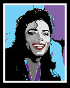 Michael Jackson Mixed Media Framed Prints - Jackson Framed Print by Samuel Veta