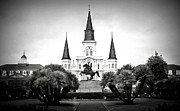 Historic Statue Prints - Jackson Square 2 Print by Perry Webster