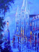 New Orleans Paintings - Jackson Square by Elaine Adel Cummins