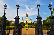 Jackson Digital Art Framed Prints - Jackson Square in New Orleans Framed Print by Bill Cannon