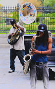 Tuba Prints - Jackson Square Jazz Print by Bill Cannon