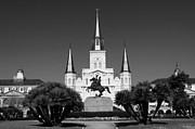 Leda Photography Framed Prints - Jackson Square Framed Print by Leslie Leda