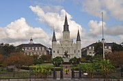 Jackson Prints - Jackson Square New Orleans Print by Bill Cannon