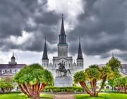 Quarter Horse Framed Prints - Jackson Square New Orleans Framed Print by Tammy Wetzel