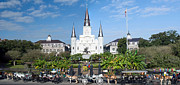 Catholic Icon Framed Prints - Jackson Square Panorama Framed Print by Jim Chamberlain
