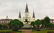 Jackson Prints - Jackson Square Print by Perry Webster