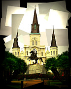 Jackson Prints - Jackson Square Style 2 Print by Perry Webster