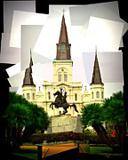 Jackson Prints - Jackson Square Style Print by Perry Webster