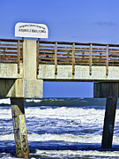 Jacksonville Digital Art Prints - Jacksonville Beach Fishing Pier Print by Frank Feliciano