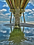 Jacksonville Photo Posters - Jacksonville Beach Pier Poster by Joe Hickson