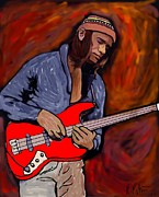 Guitar Art Prints Prints - Jaco Print by Rob Peters