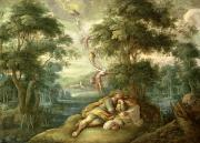 Bethel Painting Posters - Jacobs Dream Poster by Frans Francken
