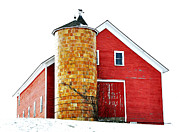 Weathervane Prints - Jacobson Barn Print by Mary Anne Williams