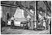 Supervising Framed Prints - Jacquard Loom, 19th Century Framed Print by