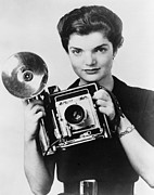 American First Lady Prints - Jacqueline Bouvier As The Inquiring Print by Everett