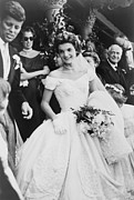 First Ladies Framed Prints - Jacqueline Bouvier Kennedy Emerging Framed Print by Everett