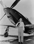 Occupational Portraits Prints - Jacqueline Cochran 1906-1980 American Print by Everett