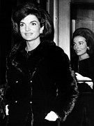 Story-hairstyles Posters - Jacqueline Kennedy And Her Sister Lee Poster by Everett