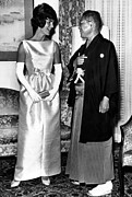 Opera Gloves Art - Jacqueline Kennedy, And Japanese Prime by Everett