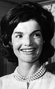 First Ladies Framed Prints - Jacqueline Kennedy As First Lady. Ca Framed Print by Everett