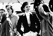 Equestrians Framed Prints - Jacqueline Kennedy At A Hunt Framed Print by Everett