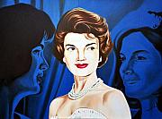 Jackie Kennedy Onassis Paintings - Jacqueline Kennedy by Hector Monroy
