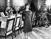 Ev-in Framed Prints - Jacqueline Kennedy, In The State Dining Framed Print by Everett