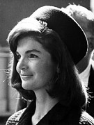 1960s Photo Framed Prints - Jacqueline Kennedy, Joins The President Framed Print by Everett
