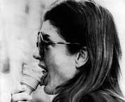 Rs2wn Posters - Jacqueline Kennedy Onassis Licks An Ice Poster by Everett