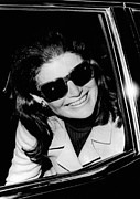 President And First Lady Framed Prints - Jacqueline Kennedy Onassis Smiles Framed Print by Everett