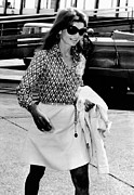 Above The Knee Framed Prints - Jacqueline Kennedy Onassis Walks Framed Print by Everett