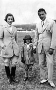 Jodhpurs Posters - Jacqueline Kennedy, With Her Parents Poster by Everett