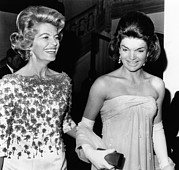 Opera Gloves Metal Prints - Jacqueline Kennedy With The Wife Metal Print by Everett