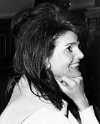 1960s Hairstyles Photos - Jacqueline Onassis Watching by Everett