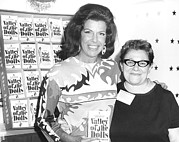 Pucci Framed Prints - Jacqueline Susann And Fan Anne Udin Framed Print by Everett