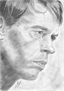 Jacques Drawings - Jacques Brel by Annie GODET