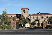 Wine-press Photos - Jacuzzi Family Vineyards - Sonoma California - 5D19322 by Wingsdomain Art and Photography