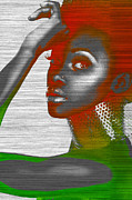 African American Digital Art Posters - Jada Poster by Irina  March