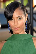 Drop Earrings Posters - Jada Pinkett Smith At Arrivals Poster by Everett