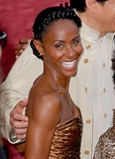 2010s Hairstyles Framed Prints - Jada Pinkett Smith At Arrivals For The Framed Print by Everett