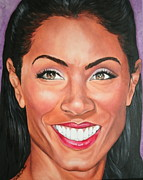 Portraits By Timothe Framed Prints - Jada Pinkett Smith Framed Print by Timothe Winstead