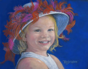 People Pastels Metal Prints - Jadas Hat Metal Print by Tanja Ware