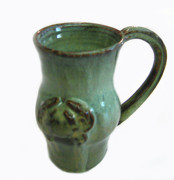 Hand Thrown Pottery Originals - Jade Crab Mug by Vernon Nix