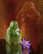 Buddah Digital Art Framed Prints - Jade Ho-tei Framed Print by Judi Quelland
